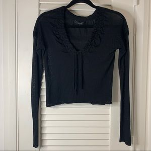 Gucci black silk sweater size XS